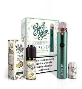 VPod CBD Vape Starter Kit - Teal + FREE CBD E-Liquid
