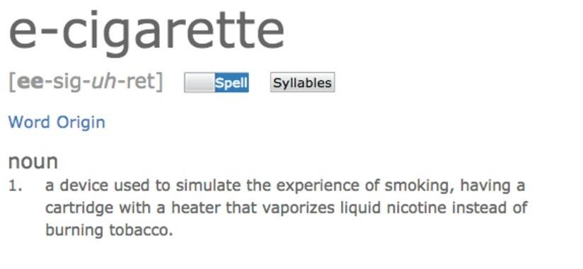 Vaping Terms Now in the Dictionary