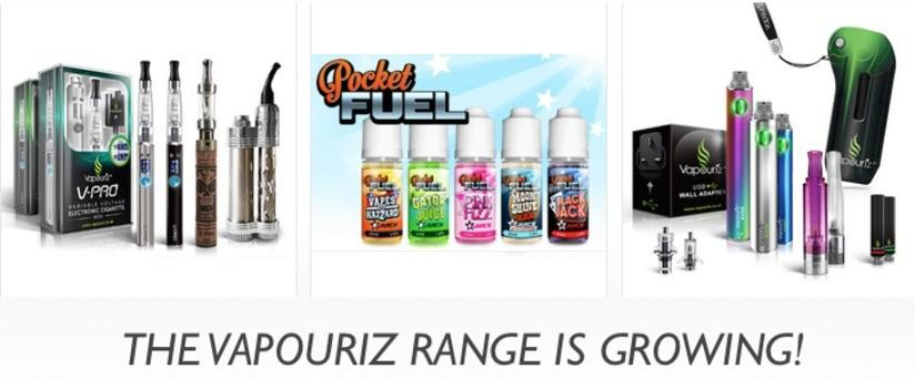 The Vapouriz E Cig Range is Growing!