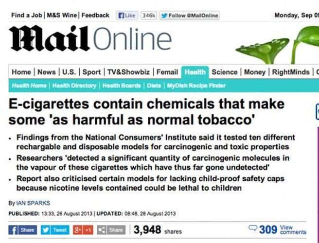 Why do the media portray E Cigs negatively?
