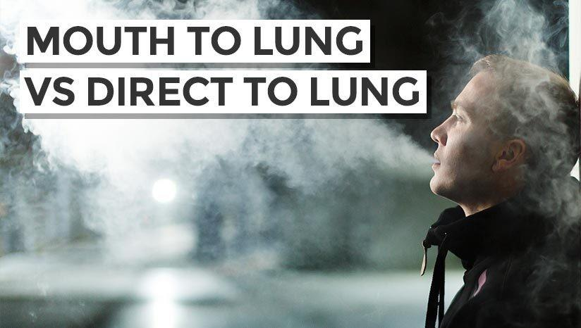 Mouth to lung vs direct-to-lung (DL) vaping