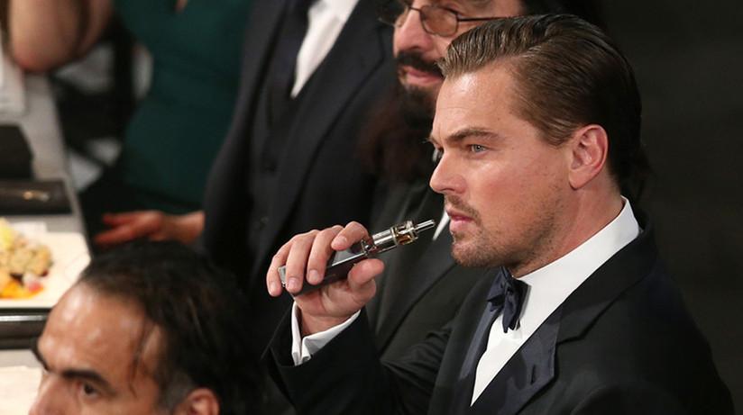 Leonardo DiCaprio Vapes at Awards