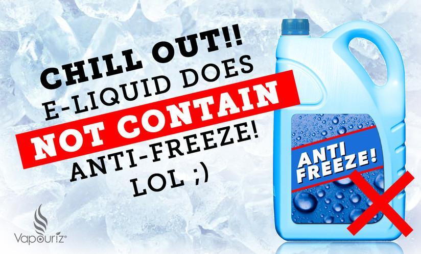 Do e-cigarettes contain anti-freeze?