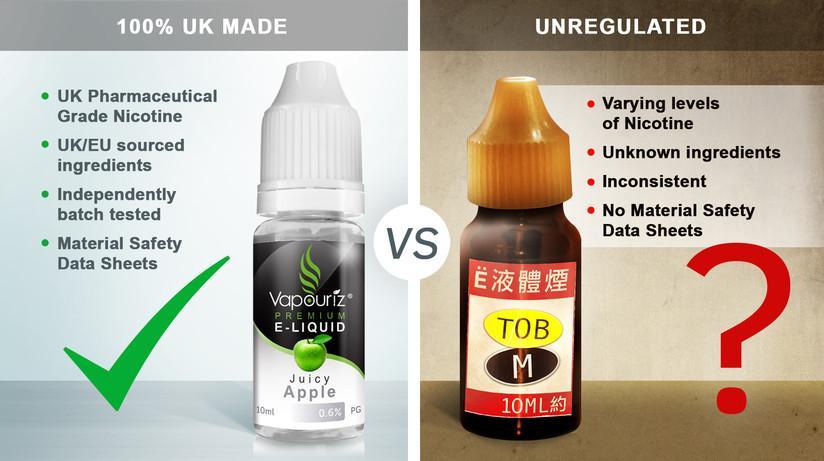E Liquid: UK Made vs. Unregulated - The Truth