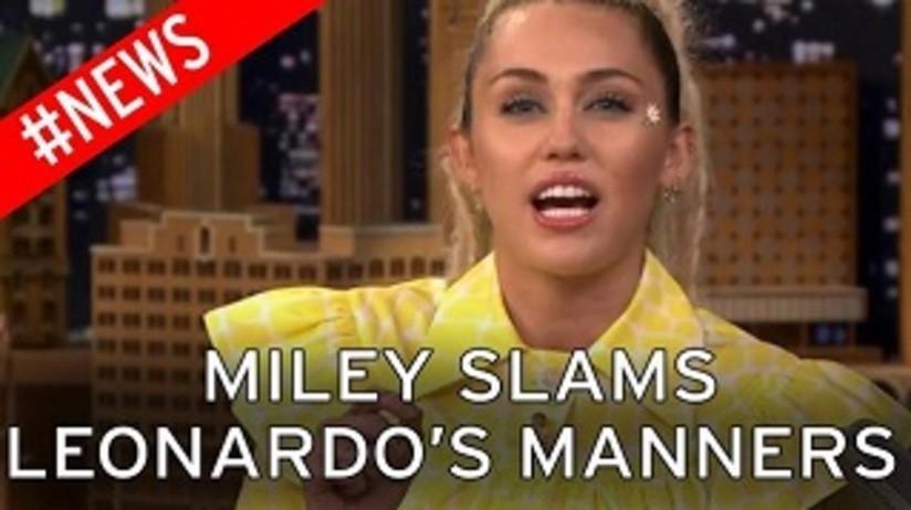 Miley Cyrus on Leo's Award Show Vaping