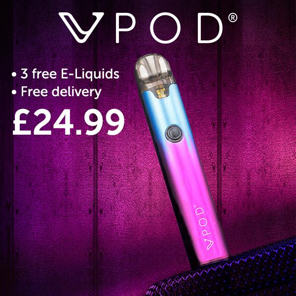 vPod with 3 Free E-Liquids